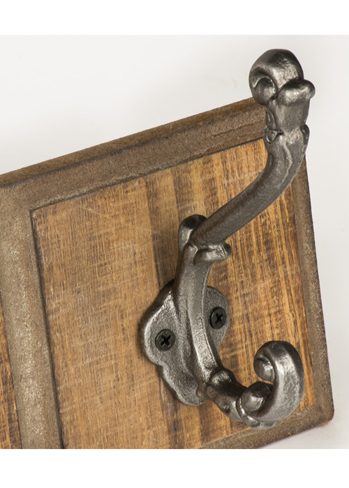 919901a22d0f ... Grey Metal Double Coat Hat Hooks · QEL061 Vintage Industrial Style  Wooden 3 Coat Hooks. Previous; Next
