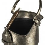 QPR029 Antique Grey Traditional Coal Bucket with Shovel
