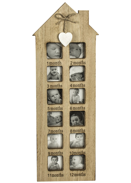 SBF0012 First Year Heart House Shape Photo Frame
