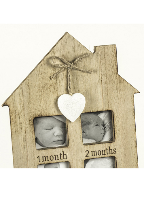 SBF012_1 First Year Heart House Shape Photo Frame