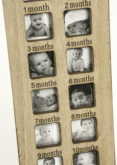 SBF012_2 First Year Heart House Shape Photo Frame
