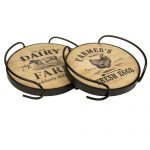 SYD015 Farmhouse Wooden Serving Trays Set of 2