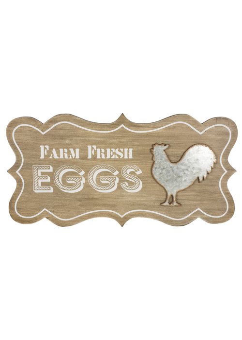 SYD017_1 Country Style Farm Fresh Eggs Wooden Sign