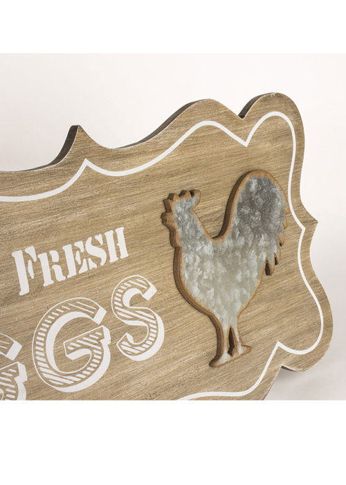 SYD017_2 Country Style Farm Fresh Eggs Wooden Sign