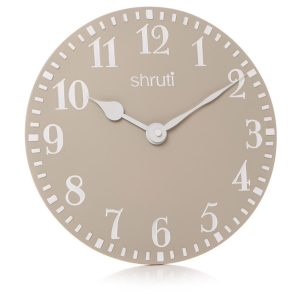 29921_Clay Natural Grey Wall Clock