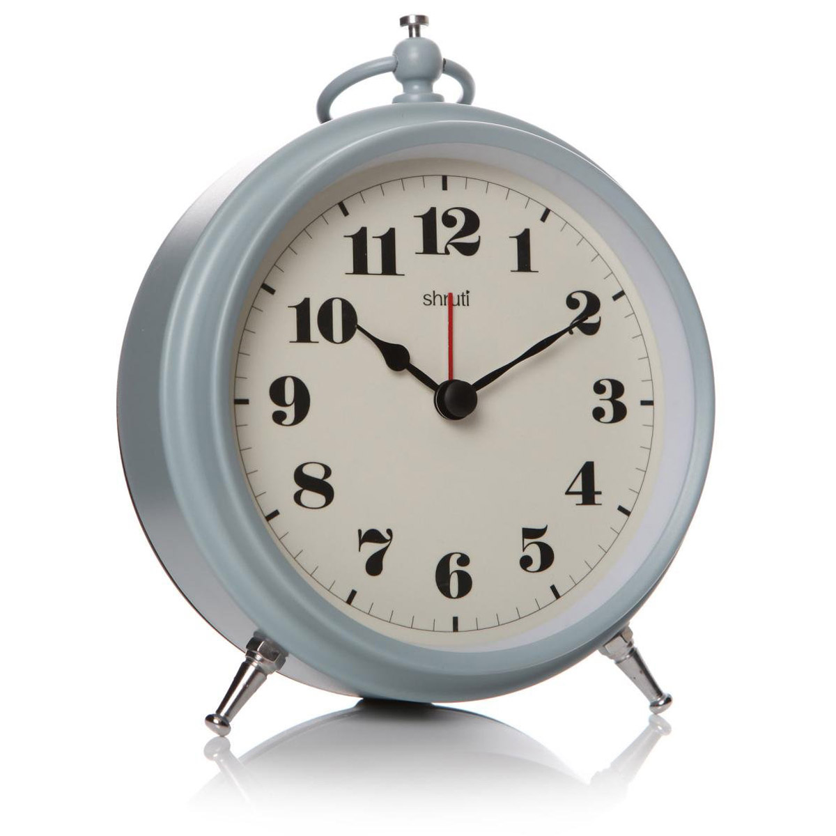 Sky Blue Grey Bedroom Alarm Clock