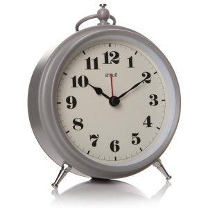 29938_Ash Grey Bedroom Alarm Round Clock