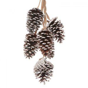 94871_Silver Sparkle Pinecone Spray Christmas Decoration