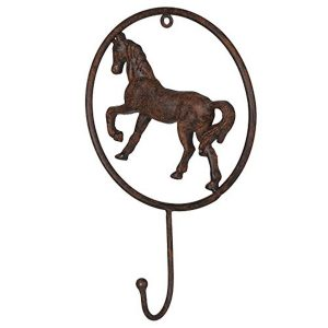 FA272 Country Antique Style HORSE Pony Brown Hook
