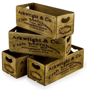 FC28 Vintage Style London Market Crate Box