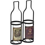 MNX173_2__Antique Style Black 2 Wine Bottle Carrier