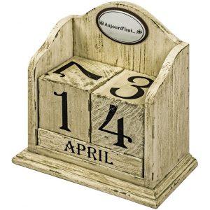 French Vintage Cream Perpetual Calendar