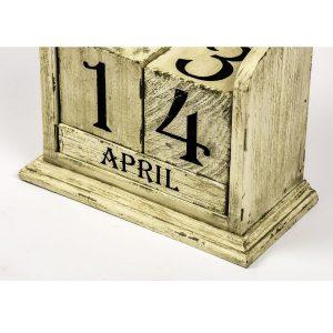 French Vintage Cream Perpetual Calendar b