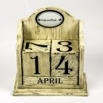 French Vintage Cream Perpetual Calendar d
