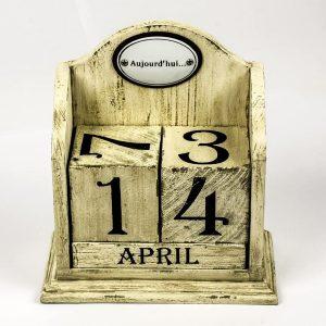 French Vintage Cream Perpetual Calendar d