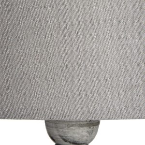 18552-b Antique Grey White Linen Table Lamp