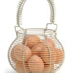 BACL02 2 Country Style Grey Wire Egg Basket