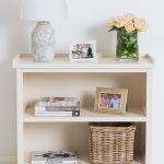 Country White Wooden Low Bookcase