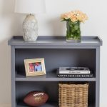 French Country Grey Bookcase Shelving Unit