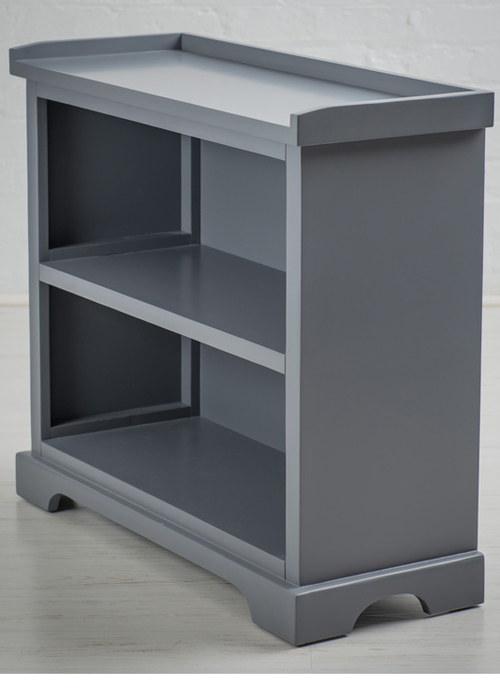 French Country Grey Bookcase Shelving Unit a