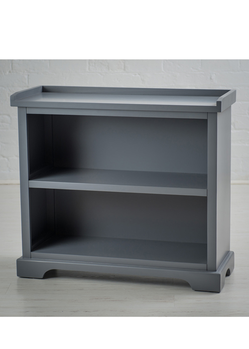 French Country Grey Bookcase Shelving Unit b