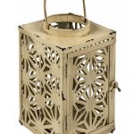 QEL028_Antique Cream Candle Tea Light Lantern