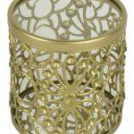 QEL040_Cylinder Gold Metal Trinket Jewellery Box