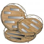QEL043_Mirrored Wooden Nesting Trays Set of 3