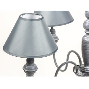 WEI003_5_Shabby Chic Grey Silver Ceiling Light