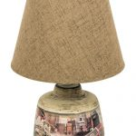 WUD022__Vintage London Red Ceramic Table Lamp