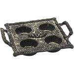 XHD071_Rustic Cast Iron Pine Cone Candle Tray