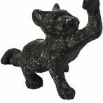 XHD077 Rustic Cast Iron Black Cat Door Stop