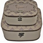YDF004__Pair Retro Vintage Grey Dog Cases