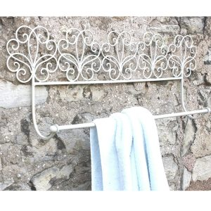 YF1008-3 Antique Cream Scroll Wall Towel Rail