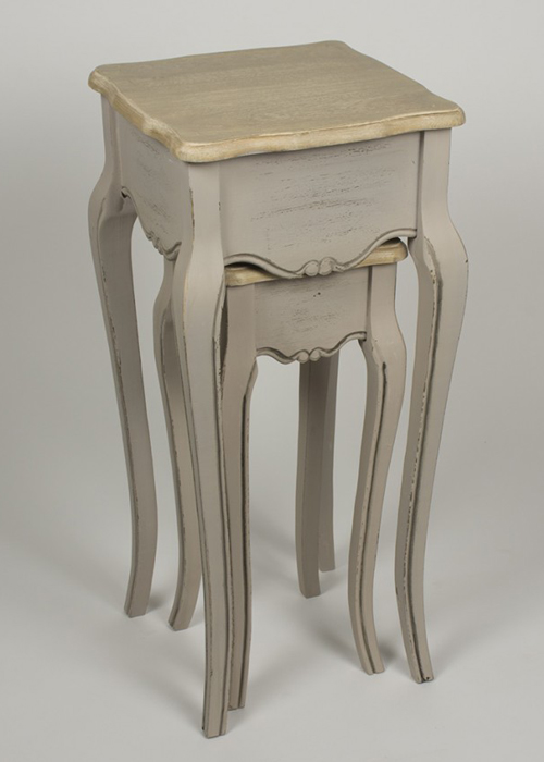 ZJW109_2_French Country Grey Brown Nested Tables