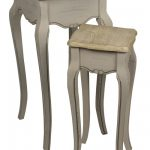 ZJW109_French Country Grey Brown Nested Tables