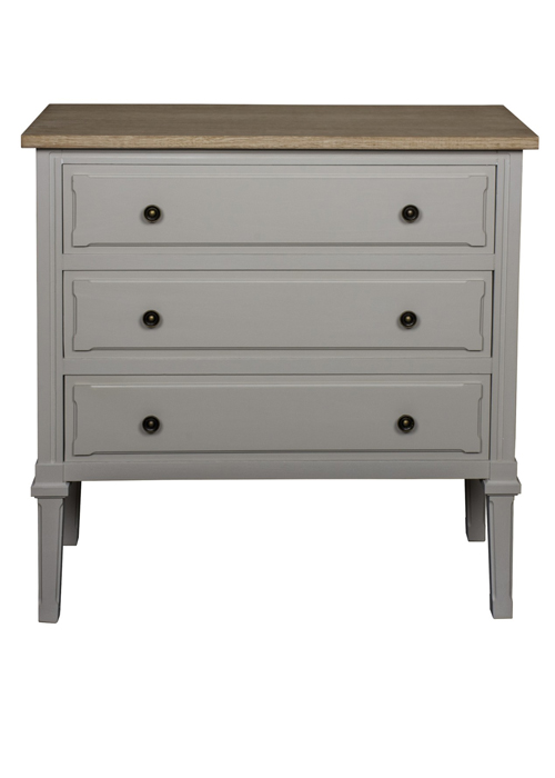 ZJW160_Country Style Grey Chest of Drawers