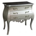 pls020_Ornate Grey Silver Chest of Drawers