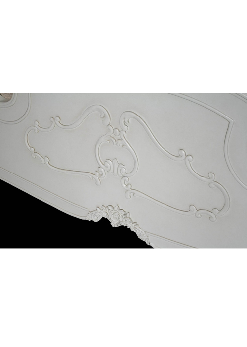 pls056-5_White Rose Floral King Size Bed Frame