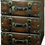 ugk005-Antique Style Suitcase Brown Drawer Unit