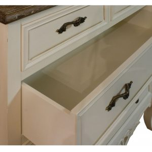 zjw008-detail-4_French Country Cream Chest 5 Drawers