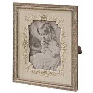 zjw012_Antique Cream Brown Rectangle Photo Frame