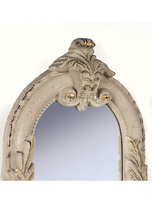 SNQ070_1_Antique Style Cream Gold Wall Mirror