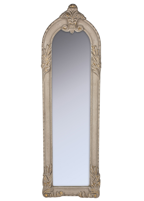 SNQ070__Antique Style Cream Gold Wall Mirror