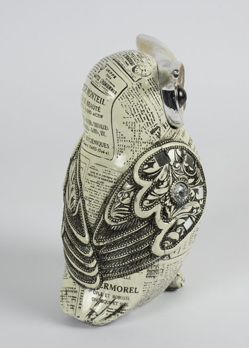 SPW006_1_Vintage Style Owl Silver Ornament