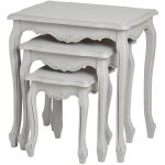17049 French Vintage Grey Nested Tables Set