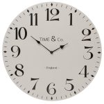 50662_Extra Large Vintage Grey Time & Co Clock