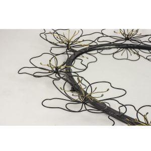 MNX271_1_Black Bronze Flowers Oval Mirror
