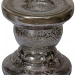 NUT001_Vintage Style Brown Glass Candle Holder