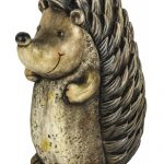 OHU003_Lovely Hedgehog Brown Garden Ornament
